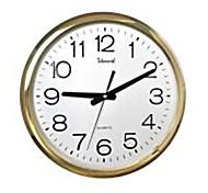 "Telesonic™ 14""H Brief Style Circular Shape Metallic Super Mute Wall Clock"