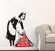JiuBai®  Banksy Maid Wall Sticker Wall Decal