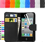 Wallet Card Holder PU Leather Case for iPhone 5/5S (Assorted Colors)