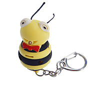 Fat Yellow Bee Pattern Keychain Toys