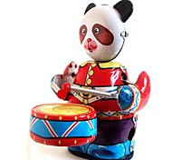 Tin Panda Drummer with Box Wind-Up Toys for Collection