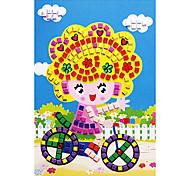 EVA Mosaic Crystal 3D Stickers Children Hand DIY Puzzle Riding Bike Girl Toy