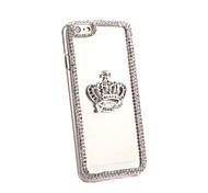 transparente cristal círculo que bling strass coroa de diamante caso capa dura cobrir escudo protetor para Apple iPhone 6