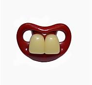 dientes frontales bebé chupete