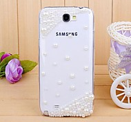 diamant parel Cover Case voor Samsung Galaxy Note 2 n7100