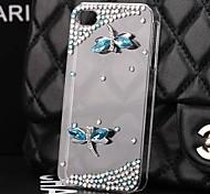 Luxus-Diamant Libelle Hülle für iPhone 4 / 4S
