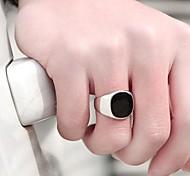 anillo de los hombres lureme®fashion piedra negro (negro) (1 unidad)