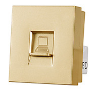 TEP 3D-118081 118 Model Switch Socket Panel Network Computer Module Wall Plate - Gold