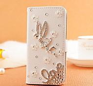 diamant engel liefde pu leer full body case met standaard en de kaartgleuf voor Samsung Galaxy Note 2 n7100
