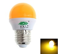 Zweihnde E26/E27 3 W 8 SMD 280-300 LM Yellow G Decorative Globe Bulbs AC 100-240 V