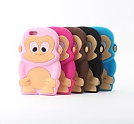 Cartoon Monkey Style Silicone Back Cover for iPhone 6 (Assoted Colors)