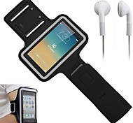 Slim PU Leather Sporty Armband with Earphone and Key Holder for iPhone 6 (Assorted Colors)