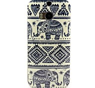 Elephant Pattern TPU Soft Cover for HTC One M8
