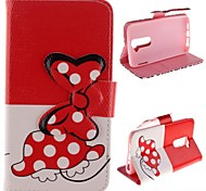 Bowknot Design Pu LeatW Case with Stand for LG G2