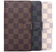 Plaid Pattern Leather Wallet Flip Protective Cover for Samsung Galaxy Note 4(Assorted Colors)