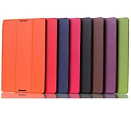 10.1 Inch Triple Folding Pattern High Quality PU Leather for Lenovo A10-70 A7600(Assorted Colors)