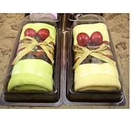 Birthday Gift Sandwich Shape Fiber Creative Towel (Random Color)