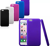 Silica Gel Soft Back Cover Case for iPhone 6/6S (Assorted Colors)
