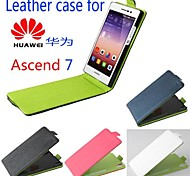 Hot Sale 100% PU Leather Flip Leather Up and Down Case for Ascend P7(Assorted Color)
