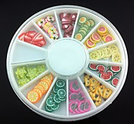 12 Kinds Fimo Slice Fruit Series Nail Art Decoration(Random Pattern)