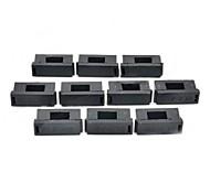 5 x portafusibles pc 20mm w / tapa - negro (10 piezas)