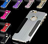 Special Design Metal Brushed Hard Case for iPhone 6 (Assorted Color)