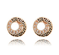 Roxi Fashion New Arrival Genuine Austrian Crystal China'S Wind White Zircon Stud Earring(1 Pair)