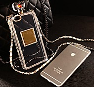DiY Perfume Bottle with Rhinestone Pattern Silicone Soft Case for iPhone 6 Plus  (Assorted Color)