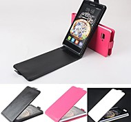 Hot Sale 100% PU Leather Flip Leather Up and Down Case for Lenovo K910(Assorted Colors)