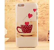 Sweet Love Heart Coffee Style Plastic Hard Back Cover for iPhone 6