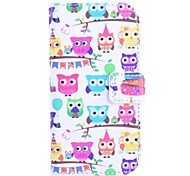 For Samsung Galaxy Case Card Holder / with Stand / Flip / Pattern Case Full Body Case Owl PU Leather Samsung Trend Lite
