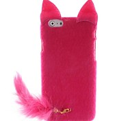 Trendy Print Flocking Hard Case with Fluffy Tail and Cute Mouse Ears for iPhone 6 plus  (Assorted Colors)