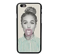 Elonbo® The Girl Blow Bubble Gum Plastic Hard Back Cover for iPhone 6