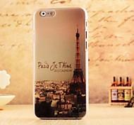contraportada puesta de sol estilo torre de plástico duro para el iphone 6