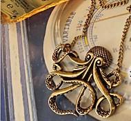 женские осьминог ретро длинное ожерелье