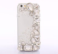 New Arricval 2014 Fashhion Transparent Bling Crystal Rhinestones Back Cover Case for iPhone 6