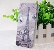 Crystal Surface Eiffel Tower Pattern Hard Case for iPhone 6