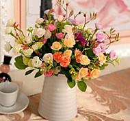 5 cabeça alta qualidade rosa simulação set flor de 5