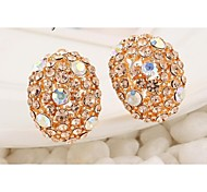 Love Is You Fashionable High-end Full Diamond Stud Earrings