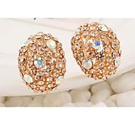 Love Is You Fashionable High-end Full Diamond Stud Earrings