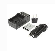 enchufe + cargador de coche ismartdigi-olympus li-70b (650mah, 3.7v) batería de la cámara + eu para vg160 VG150 d710 d720 D705 D745