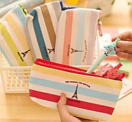 Rainbow Color The Eiffel Tower Pattern Oxford Cloth Stationery Bag(1 PCS Random Color)