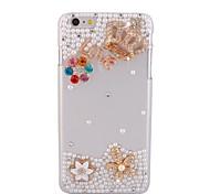 elonbo® brillante perla corona cubierta dura de plástico para el iphone 6