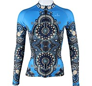 PaladinSport Women's Blue Robe Spring and Summer Style 100% Polyester  Long Sleeved Cycling Jersey