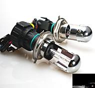 55w 12v h4 hi xenón 6000k haz / lo escondió bombillas de repuesto para la linterna