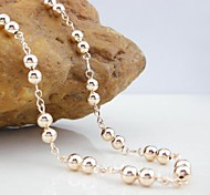 Golden / Rose Chain Necklaces Wedding / Party / Daily / Casual / Sports Jewelry