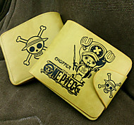 Bag / Wallets Inspired by One Piece Tony Tony Chopper Anime Cosplay Accessories Wallet Yellow PU Leather Male