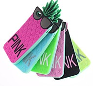 Pineapple Wearing Glasses Silicone Soft Case for iPhone 6/ (Assorted Colors)