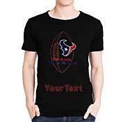 maniche strass personalizzato t-shirt calcio Houston Texans modello del cotone degli uomini brevi