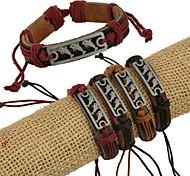 Z&X®  Punk Fashion Alloy Dolphins Handmade Leather Bracelets